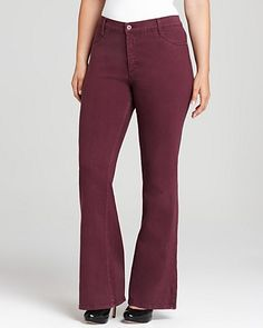 James Jeans Plus Juliette Z High Rise Flare Jeans - Denim - APPAREL - Plus Sizes - Bloomingdale's