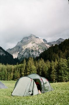 camping in the mountains! i want to go on like a week long camping trip!