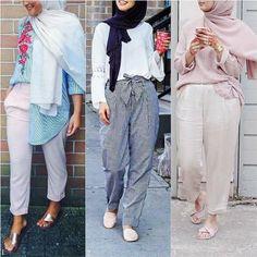 Dressy pants-Eid hijab collection looks – Just Trendy Girls Fashion 2018, Modest Fashion, Hijab Fashion, Girl Fashion, Fashion Outfits, Modest Outfits, Chic Outfits, Trendy Outfits, Hijab Chic