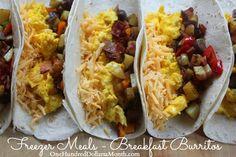 Freezer Meals – Breakfast Burritos