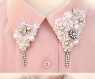 DIY bling collar - Love!