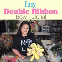 Learn how to make a double ribbon bow using the EZ bow Maker.  Julie, of Southern Charm Wreaths, will put the ease in your DIY bow making!