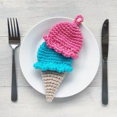 アイスクリームなアクリルたわし