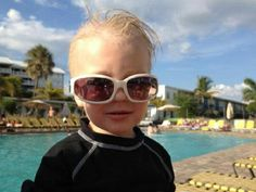 PCI's youngest brand ambassador hangin' poolside.