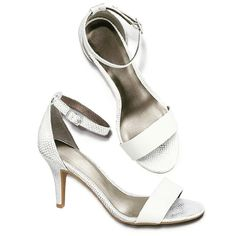 White party item... Metallic feminine  heel order www.youravon.com/lenafiercemakeup shop with me 10% off your next order when you email sign up