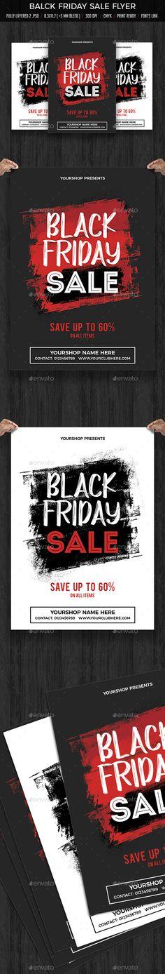 Black Friday Sale #Flyer - Flyers Print Templates