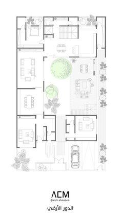 Villa Plan, Full House, House Plans, Floor Plans, Flooring, How To Plan, Architecture, Crafts, Arquitetura