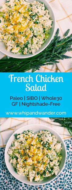 My French Chicken Salad is one of my favorite ways to pay homage to the light floral and citrus notes that were so prevalent on our trip to Paris, while eating seasonally in the Northwest.