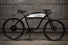 The Derringer Electric Bike ($1800), a board track racing inspired electric bicycle by Derringer Cycles Made in the USA via http://derringercycles.com