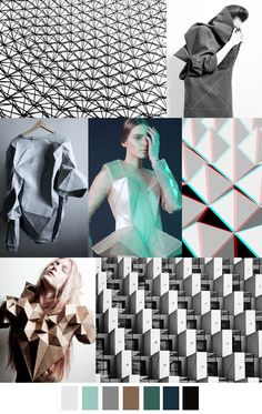 Pattern Curator delivers color, print and pattern trends and inspiration. Paper Fashion, Origami Fashion, Fashion Art, Fashion Design, Fashion Trends, Fashion Fabric, Trends 2016, Geometric Fashion, Illustration Mode