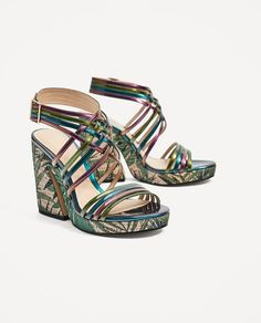 Discover the new ZARA collection online. The latest trends for Woman, Man, Kids and next season's ad campaigns. Hooker Heels, Zara United States, Try On, Walk On, Uggs, Fashion Shoes, High Heels, Platform, Wedges