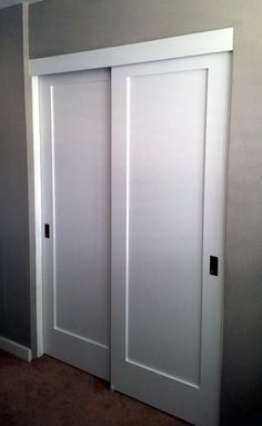 Sliding closet panel doors