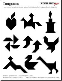 Astounding image within printable tangrams pdf