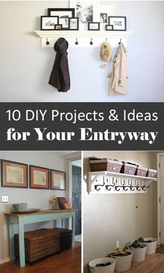 10 DIY Projects & Ideas for Your Entryway. My entryway needs some help, so I'm going to be going through these for ideas.