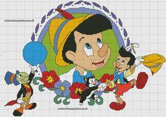 Schema pinocchio punto croce x stitch-disney вышивка e дисней. Cross Stitch Fairy, Cross Stitch For Kids, Cross Stitch Borders, Cross Stitch Charts, Cross Stitch Designs, Cross Stitching, Disney Stitch, Lilo E Stitch, Stitch Cartoon