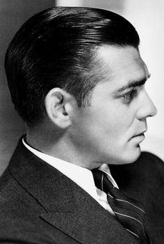MGM studio portrait of Clark Gable, early 1930s.