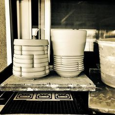 It's getting hot.  Maybe time for some mugs instead of mugs. _______________________________________________________ #summerpatiostudio #beer #coffee #ceramics #clay #pottery #pots #wip #greenware #leatherhard #process #artist #ryanreichceramics