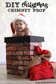 DIY Christmas Chimney Photo Prop