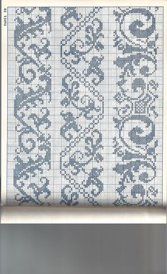 This Pin was discovered by Mar Cross Stitch Sampler Patterns, Cross Stitch Borders, Crochet Borders, Cross Stitch Samplers, Crochet Chart, Cross Stitch Flowers, Cross Stitch Charts, Filet Crochet, Cross Stitch Designs
