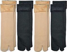 Socks PINKIT Soft & Cozy Solid Winter Thick Warm Fleece Lined Thermal Stretchy Elastic Velvet Socks for Girls/Ladies/Women)(4 Pairs)- 2 Beige 2 Black Fabric: Velvet Type: Regular Pattern: Solid Multipack: 4 Sizes: Free Size Country of Origin: India Sizes Available: Free Size *Proof of Safe Delivery! Click to know on Safety Standards of Delivery Partners- https://ltl.sh/y_nZrAV3  Catalog Rating: ★4.4 (1887)  Catalog Name: Styles Modern Women Socks CatalogID_1926981 C72-SC1086 Code: 262-10542259-