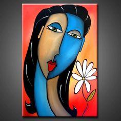 Art: Feeling So Alive by Artist Thomas C. Abstract Face Art, Picasso Art, Funky Art, Artist Portfolio, Masks Art, Sculpture Art, Pop Art, Art Drawings, Art Projects