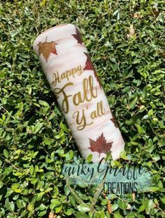 Your place to buy and sell all things handmade Diy Tumblers, Tumbler Designs, Trick Or Treat Bags, Happy Fall Y'all, Tumbler Cups, Travel Mugs, Voss Bottle, Helpful Hints, Giraffe
