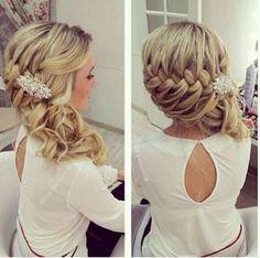 treccia laterale capelli ricci - #wedding #matrimonio #serendipity555 #modena…
