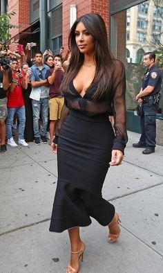 August 11, 2014- Kim Kardashian leaving herapartmentin NYC.