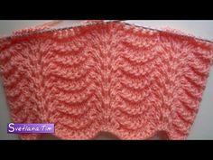 Павлиний Хвост (вариант1). Вязание спицами # 241 Мастер Класс - YouTube