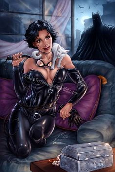 Batman: Catwoman / Selina by VinRoc on DeviantArt Catwoman Y Batman, Batman Girl, Batman Comics, Batgirl, Batman Batman, Joker, Gotham City, Bob Kane, Adam West