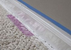 How to paint baseboards next to carpet. I have a LOT of painting to do....