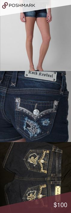 Rock revival iselin shorts Beautiful like new condition. Price is firm not in a hurry to sell. Sadly they are just a tad bit to big for me. Rock Revival Shorts Jean Shorts