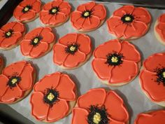 Remembrance Day Poppies   Cookie Connection
