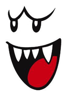 boo face printable for white balloons