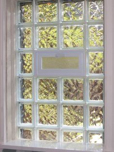 How To Installing Glass Block Windows : Glass Block Bathroom Window
