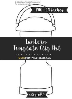 Free Lantern Template - Clipart