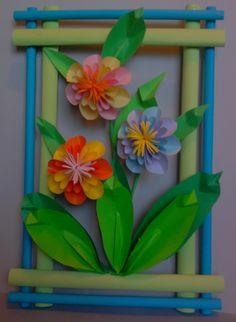 Kwiaty z papieru, ikebana, prace plastyczne, Dariusz Żołyński, flowers paper,   paper  flowers, orgiami, kirigami, wycinanki z papieru, papierowe kwiaty, бумажные цветы