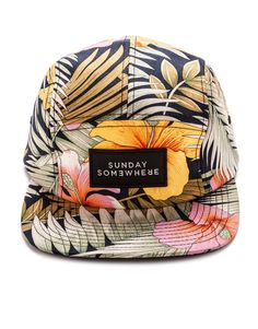Summer Five Panel Hat by SUNDAY SOMEWHERE - PASAR FASHION ONLINE