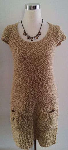 Doki-Geki Soft & Fuzzy Camel Sweater Dress SZ L #DokiGeki #ScoopNeck - www.facebook.com/finickysquirrel - This is the amazing world of the Finicky Squirrel! Join us for food, fun, great DIY and crafty ideas, special offers & more