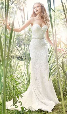 des moines wedding dresses. corset lace up back and jeweled belt at the natural waist. sweetheart neckline wedding dress from ti adora. available schaffer\u0027s in des moines, iowa. moines dresses e