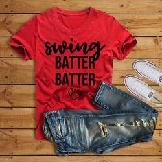 Swing Batter Batter Shirt//Baseball Shirt//Baseball Mom Shirt//Baseball Shirt for Her by ThePineappleWay on Etsy Hipster Tattoo, Valentinstag Shirts, Valentines Day Shirts, Girls Valentine Outfits, Womens Valentine Shirts, Funny Valentine, Valentine Crafts, Baseball Season, Vinyl Shirts
