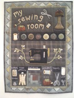 Sewing room wall hanging K.campbell