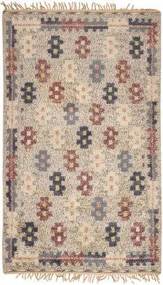Beautiful antique Rya rug from Finland!