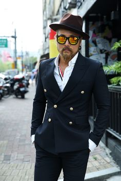 Double Breasted Suit Jacket | Men's Fashion | Menswear | Moda Masculina | Shop at designerclothingfans.com