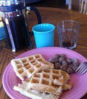 Bodhi Life: Tapioca Flour Waffles -add vanilla extract and sugar to batter