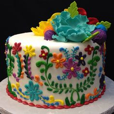 Pretty Cakes, Beautiful Cakes, Amazing Cakes, Cupcakes, Cupcake Cakes, Mexican Fiesta Cake, Mexican Cakes, Mexican Party, Birthday Cake Ideas For Adults Women
