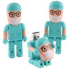 Wanna a special USB drive? Take a look at the surgeon-shaped USB drive. When you remove the cover of surgeon USB drive, there is a bit terrible, but Usb Drive, Usb Flash Drive, Doctors Day, Usb Stick, Doctor Gifts, Office Items, Flash Memory, Medical School, Medical Students