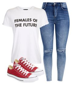 """Untitled #6537"" by demiwitch-of-mischief ❤ liked on Polyvore featuring Topshop and Converse"
