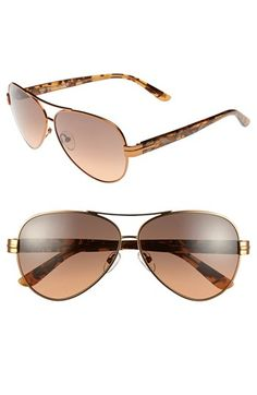 Tory Burch 59mm Aviator Sunglasses available at #Nordstrom