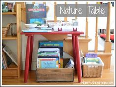 Tips for a simple nature table from Heidi and Home Schoolroom.